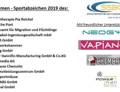 Firmensportabzeichen 2019 – Count Down