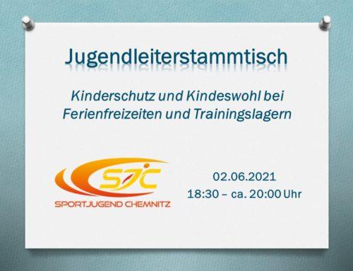 """Jugendleiterstammtisch zum Thema """"Kinderschutz und Kindeswohl bei Ferienfreizeiten und Trainingslagern"""""""
